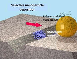 Creating a 'repair-and-go' system using nanoparticle microencapsulation